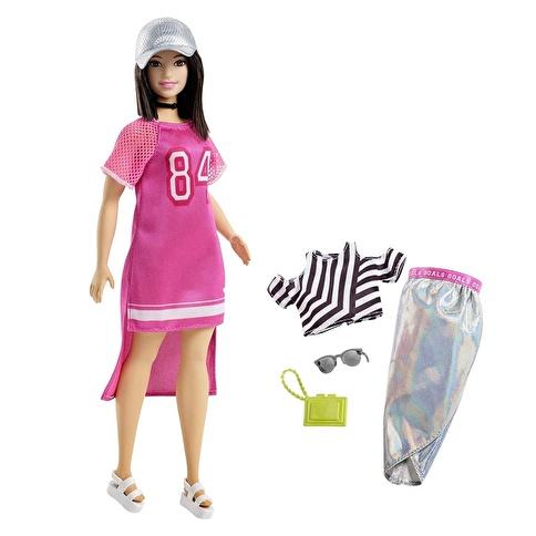 Barbie Barbie Fashionista Bebek ve Kıyafetleri Renkli
